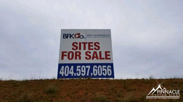 BFK Co.'s Sites for Sale sign
