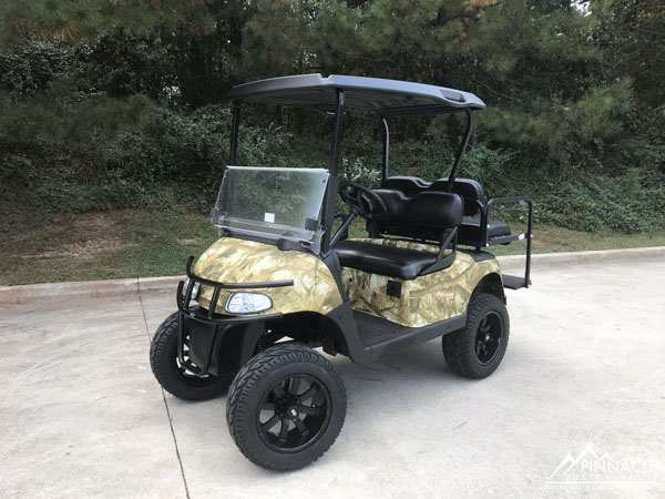 Camo wrapped golf cart