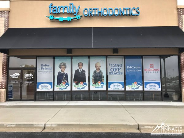 Family Orthodontics Building Sign