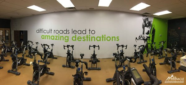 Fitness 1440 inspirational saying wall decal