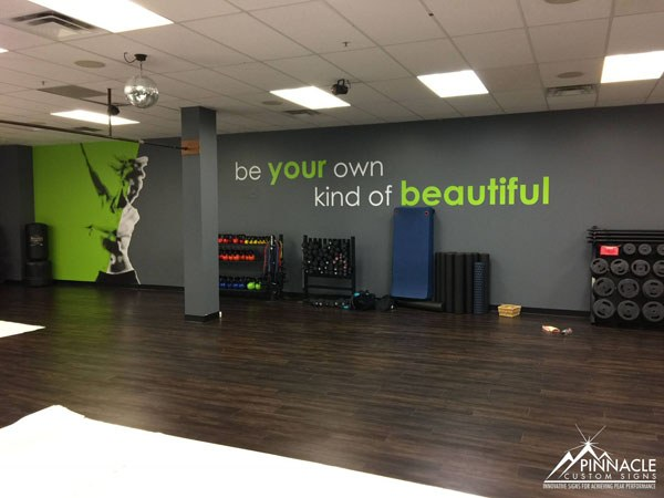 Fitness 1440 wall graphic - Be your own kind of beautiful