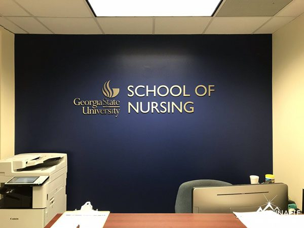 GSU School of Nursing Department Sign