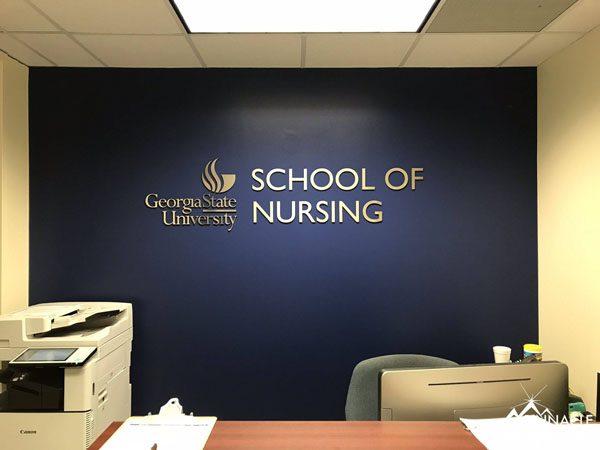 GSU School of Nursing Department Sign