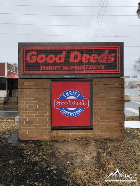 Good Deeds Thrift Superstore Monument Sign