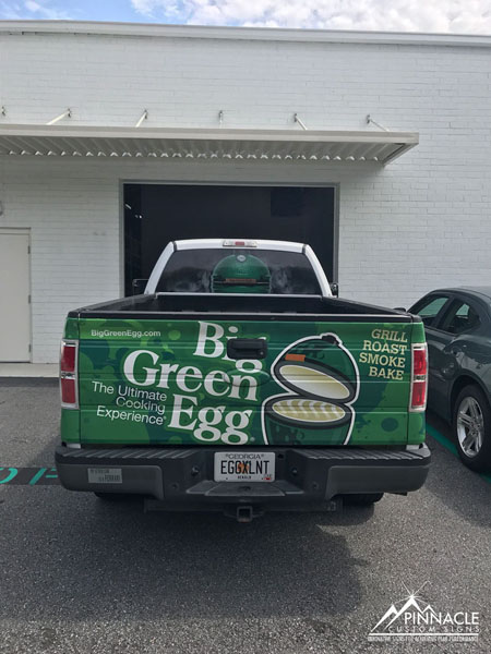 Pickup truck wrap for the Big Green Egg Store