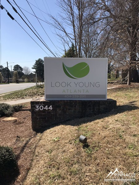 Look Young Atlanta Monument Sign