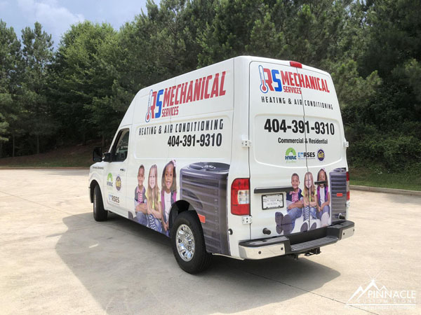 RS Mechanical Services work vehicle graphics