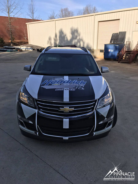 Car wrap for Rick Hendrick Chevrolet's van
