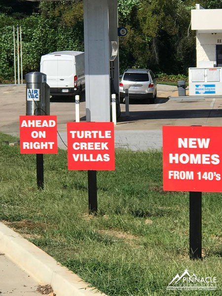 Turtle Creek Villas informational post signs