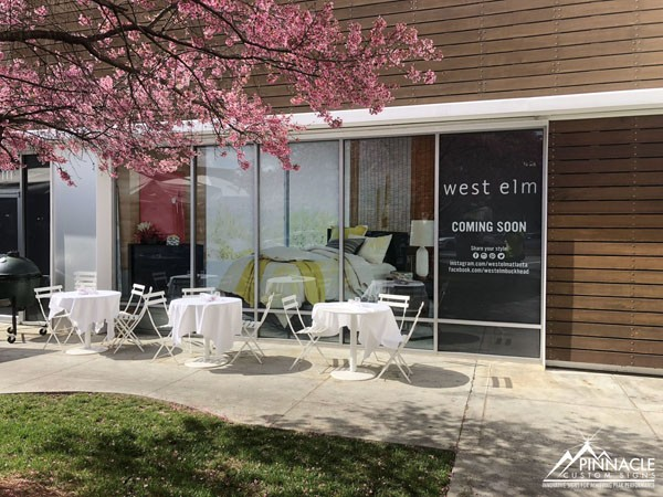 Window graphics for West Elm as they were renovating the location