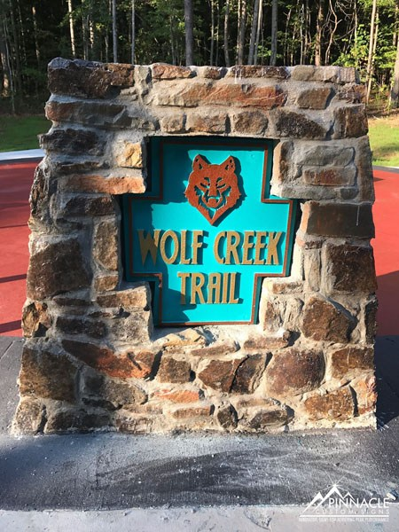 Wolf Creek Trail Monument Sign