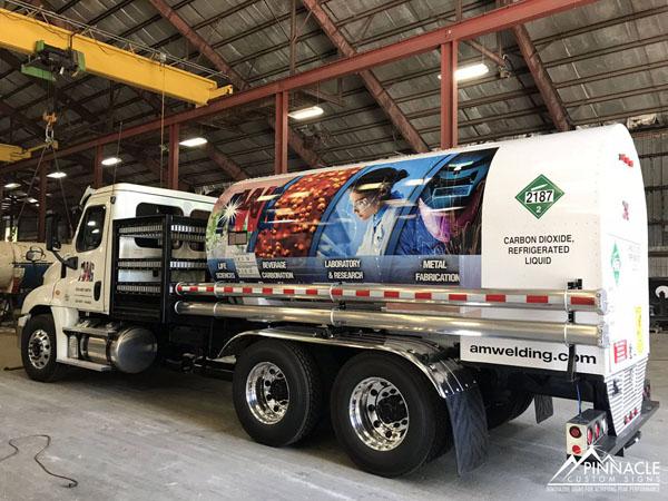 AM Welding truck wrap