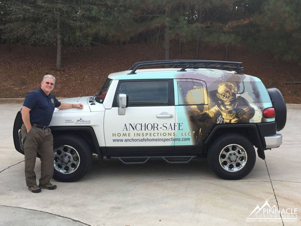 Vehicle wrap for Anchor Safe