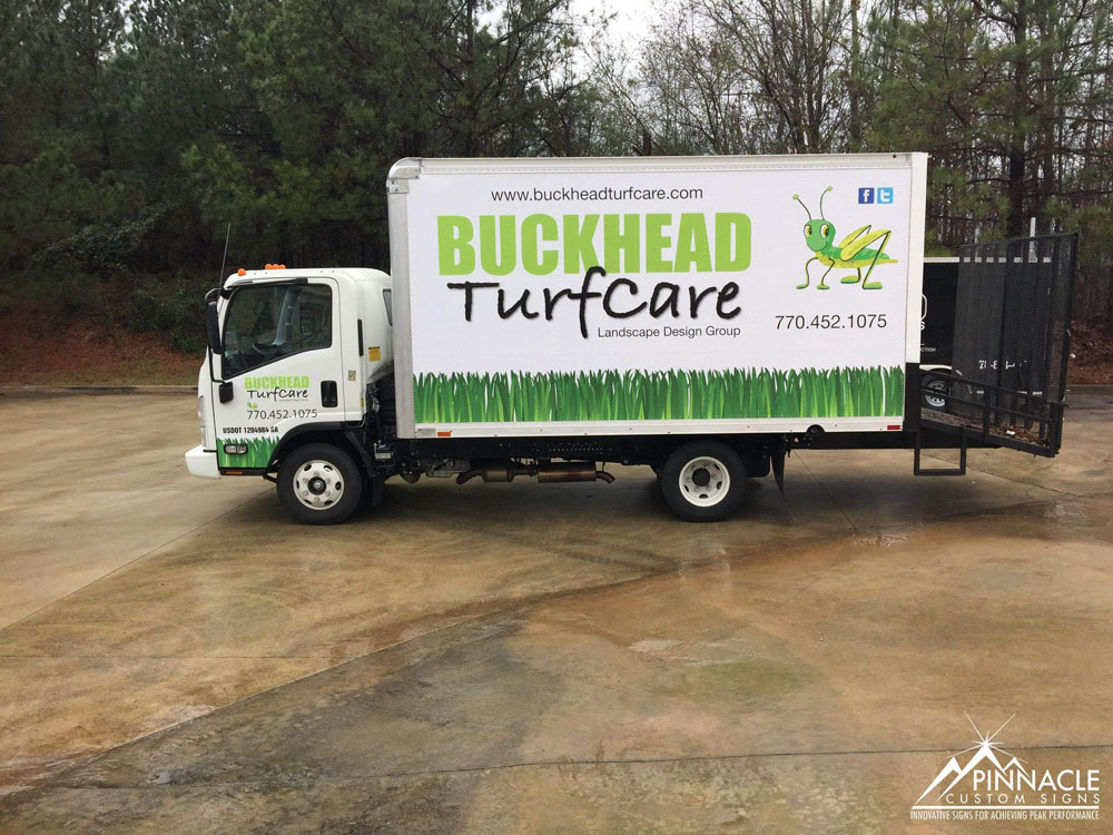 Box truck wrap for Buckhead Turfcare