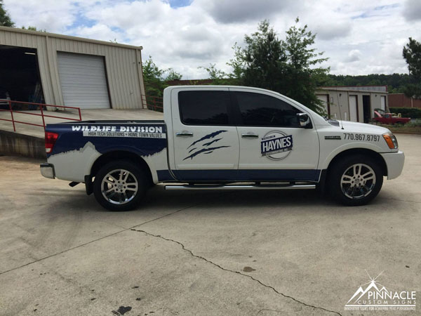 Vinyl Truck Wrap for Haynes Exterminating Wildlife Division