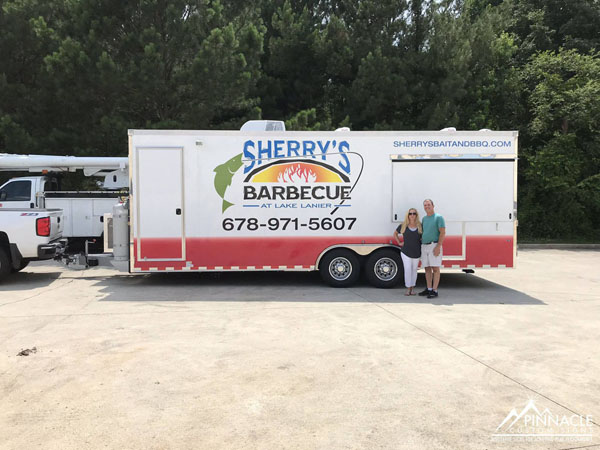 Sherry's Barbecue trailer wrap