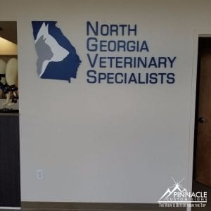 This acrylic sign is a perfect example of clean logo signage