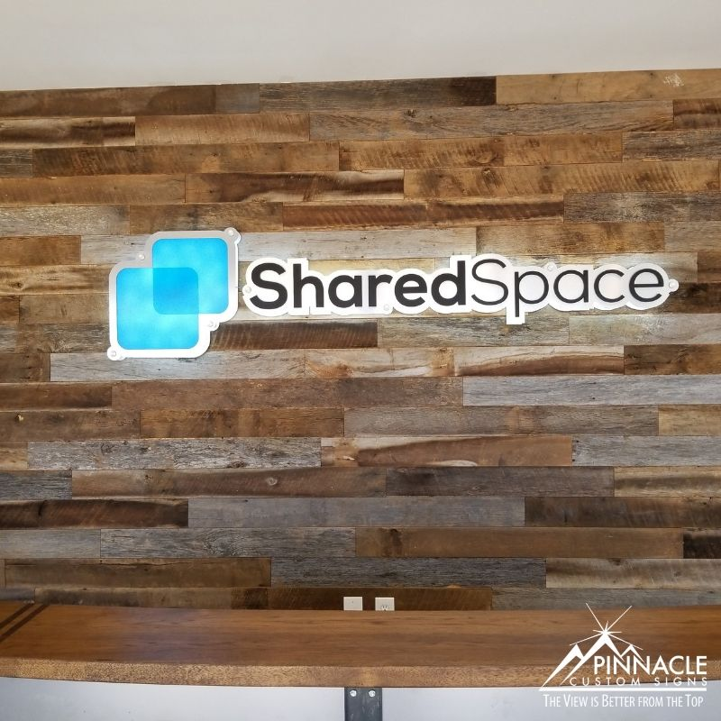 vinyl wall decals and lobby sign