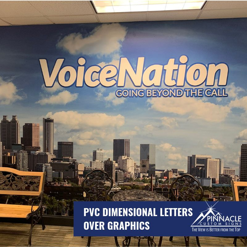 Office signs for VoiceNation in Buford, GA