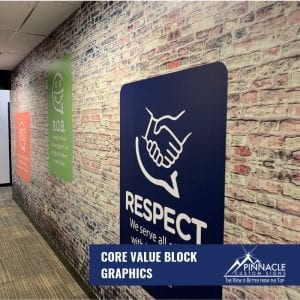 faux brick wall using vinyl wall graphics
