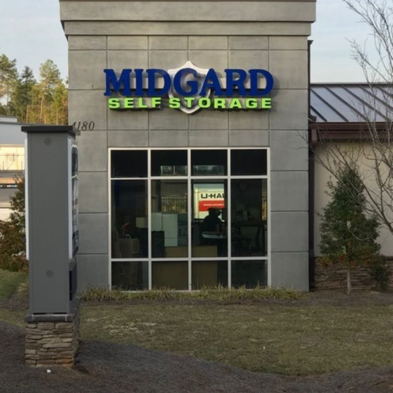 Midgard custom building sign