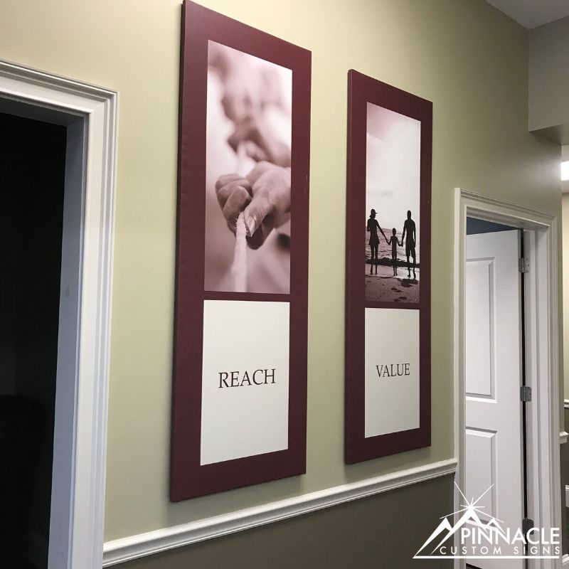 Custom Interior Signage for Pinnacle Bank