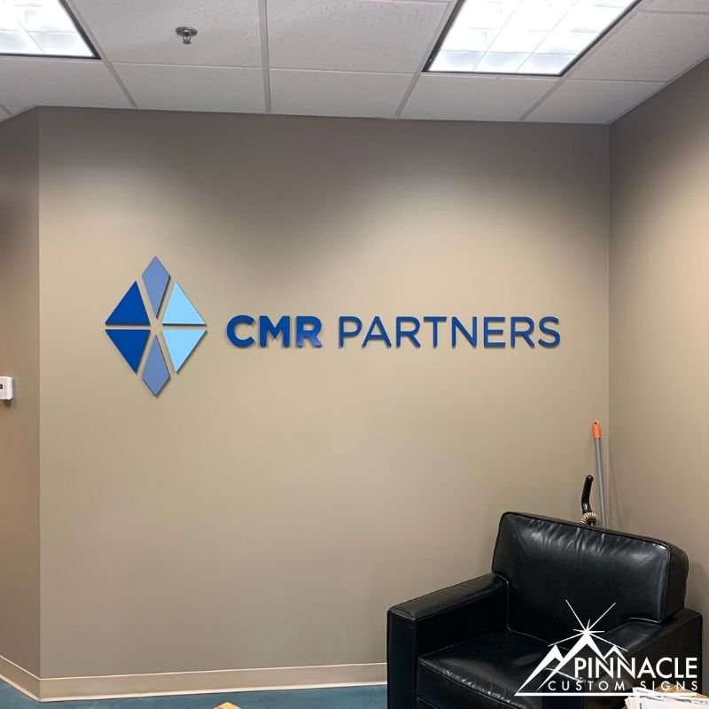 Custom Lobby Sign for CRM Partners