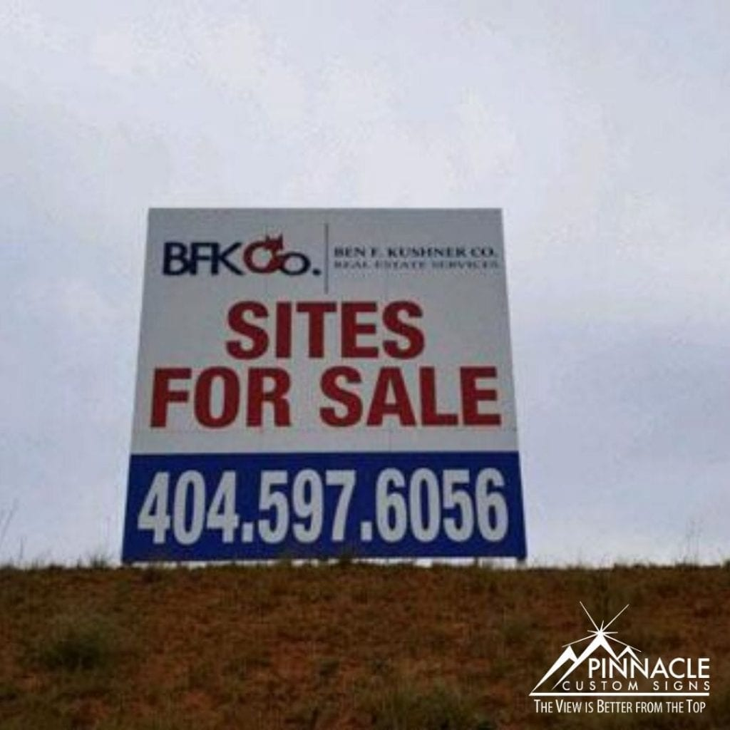 For Sale Commercial Real Estate Sign