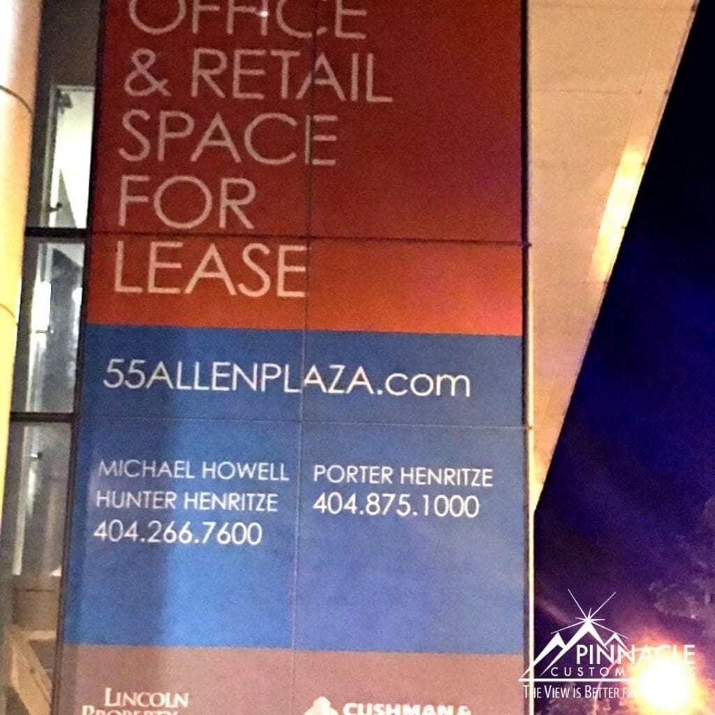 Space for Lease vinyl window graphic