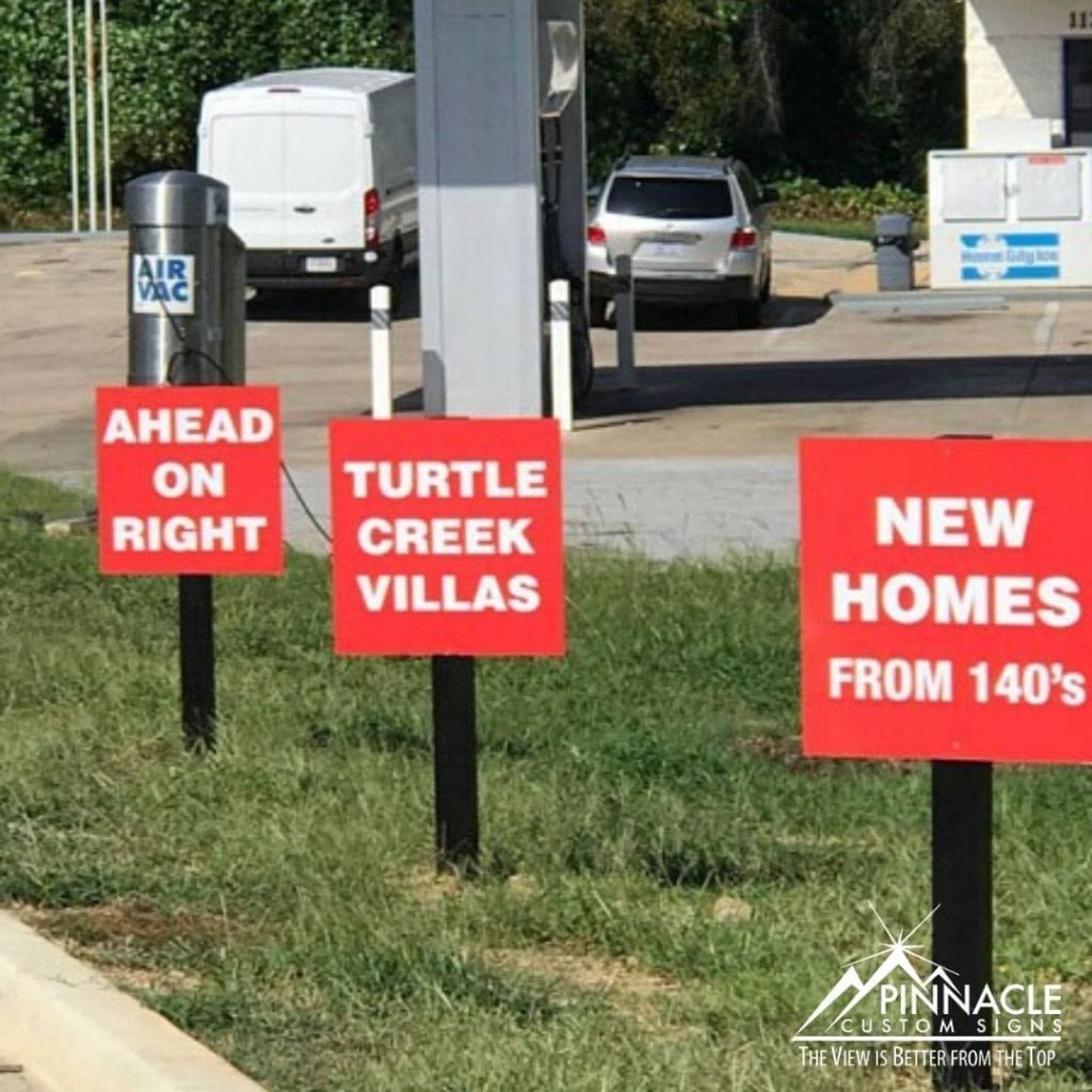 directional signs for real estate are important for wayfinding