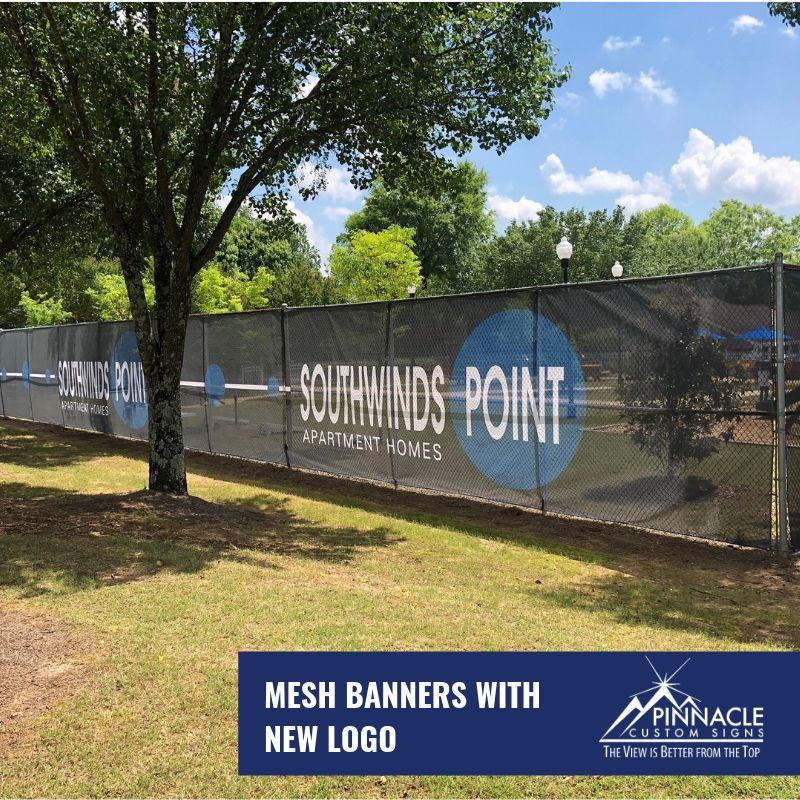 a mesh commercial sign for Southwind Point