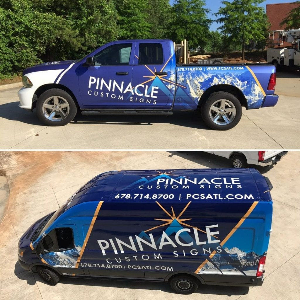 A sign company still needs vehicle wraps!